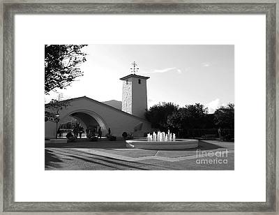 Robert Mondavi Napa Valley Winery . Black And White . 7d9029 Framed Print by Wingsdomain Art and Photography