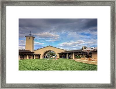 Robert Mondavi Winery Courtyard  Framed Print by Jennifer Rondinelli Reilly - Fine Art Photography