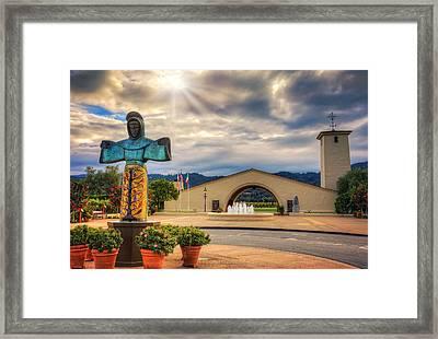 Robert Mondavi Winery - Napa Valley California Framed Print by Jennifer Rondinelli Reilly - Fine Art Photography