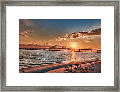 Robert Moses Bridge  Framed Print by Linda Pulvermacher