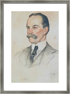 Robert Offley Ashburton Milnes, 1st Marquess Of Crewe Framed Print by William Strang