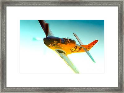 Robert Patterson And Tf-51d Mustang Lady Jo 2010 Reno Air Races Framed Print