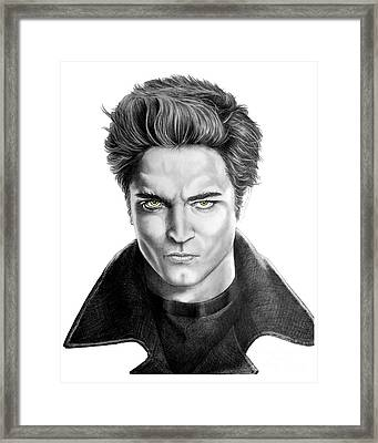 Robert Pattinson - Twilight's Edward Framed Print by Murphy Elliott