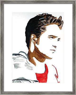Robert Pattinson 17 Framed Print