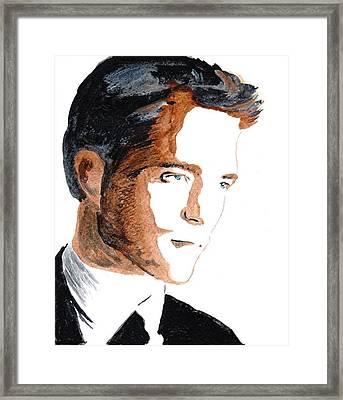 Robert Pattinson 18 Framed Print by Audrey Pollitt