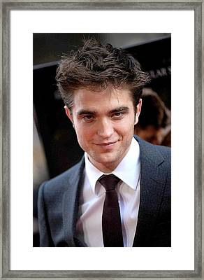 Robert Pattinson At Arrivals For Water Framed Print by Everett