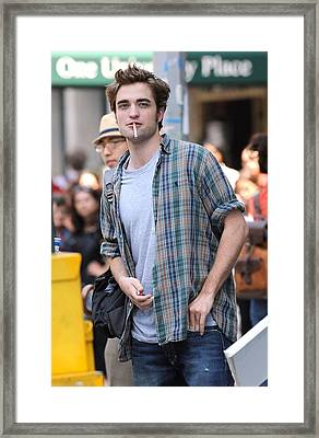 Robert Pattinson On Location For Robert Framed Print