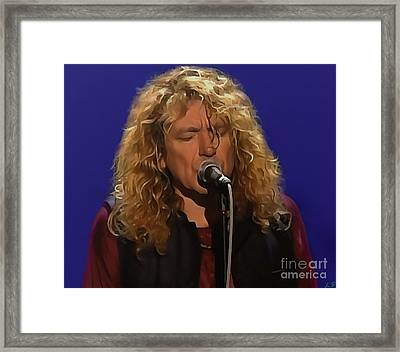 Robert Plant 001 Framed Print