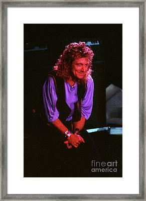 Robert Plant-88-3224 Framed Print