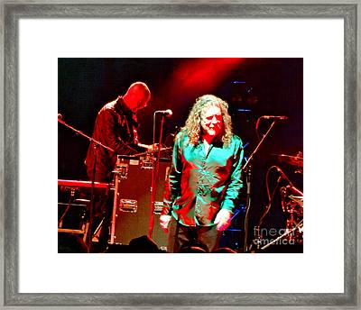 Robert Plant And The Sensational Space Shifters.5 Framed Print