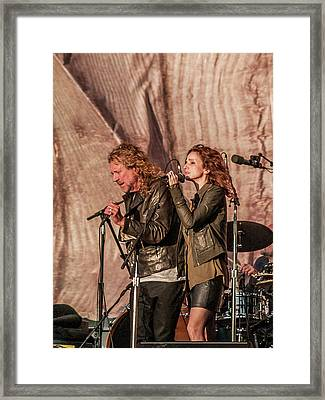 Robert Plant And Patty Griffin Framed Print