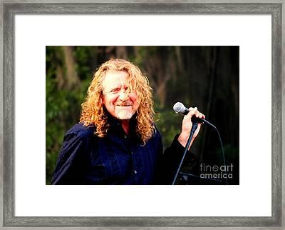 Robert Plant Framed Print by Angela Murray
