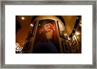 Robert Plant At The Hard Rock Framed Print by David Lee Thompson
