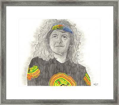 Robert Plant Framed Print by Bari Titen