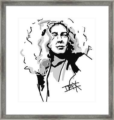 Robert Plant Framed Print by Danielle LegacyArts