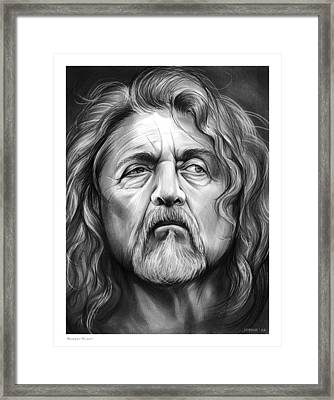 Robert Plant Framed Print by Greg Joens