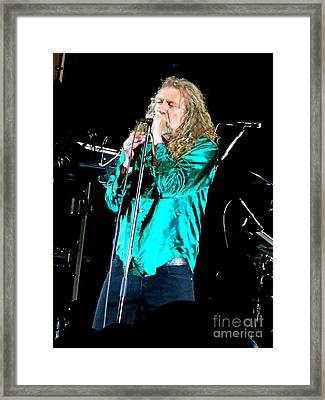 Robert Plant And The Sensational Space Shifters.3 Framed Print