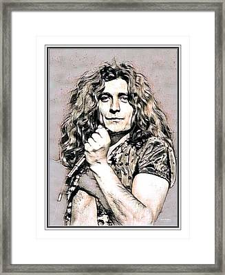 Robert Plant Illustrated Framed Print by Scott Wallace