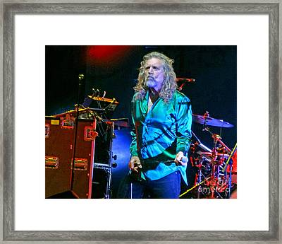Robert Plant And The Sensational Space Shifters.7 Framed Print