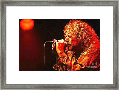 Robert Plant Framed Print by John Malone