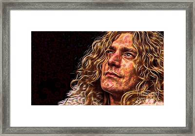 Robert Plant Led Zeppelin Framed Print by Marvin Blaine