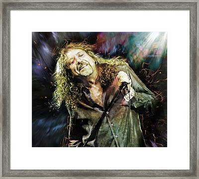 Robert Plant Framed Print by Mal Bray