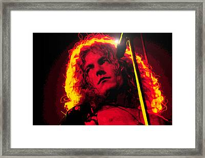 Robert Plant Framed Print by Martin James
