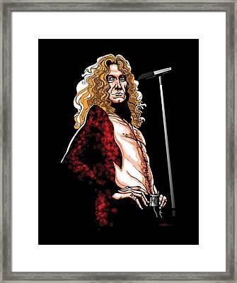 Robert Plant Of Led Zeppelin Framed Print by GOP Art