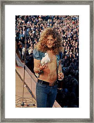 Robert Plant Of Led Zeppelin Framed Print