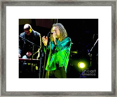 Robert Plant And The Sensational Space Shifters.6 Framed Print by Tanya Filichkin