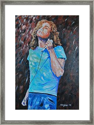 Robert Plant Framed Print by Stanton D Allaben