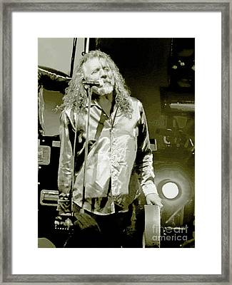Robert Plant And The Sensational Space Shifters.9 Framed Print