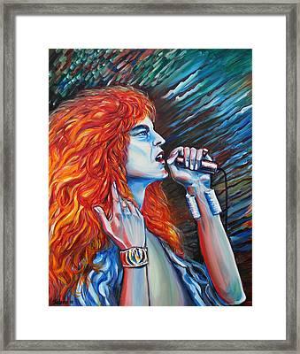 Robert Plant  Framed Print by Yelena Rubin