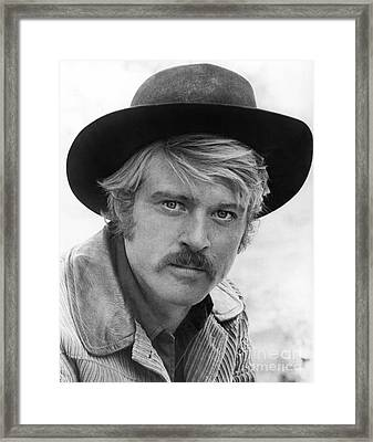 Robert Redford (1936-) Framed Print by Granger
