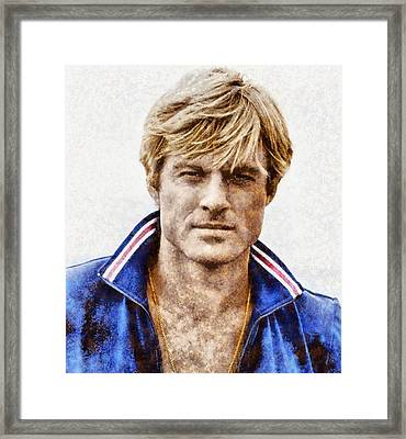 Robert Redford Hollywood Actor Framed Print by John Springfield