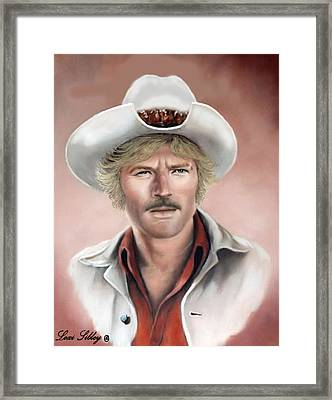 Framed Print featuring the painting Robert Redford by Loxi Sibley