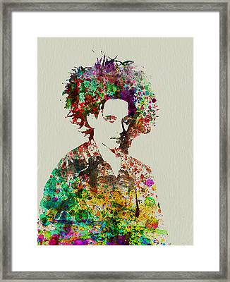 Robert Smith Cure 2 Framed Print by Naxart Studio
