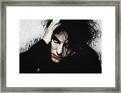 Robert Smith - The Cure  Framed Print