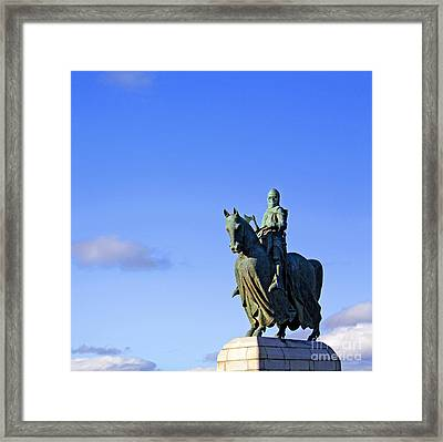 Framed Print featuring the photograph Robert The Bruce King Of Scots  by Craig B