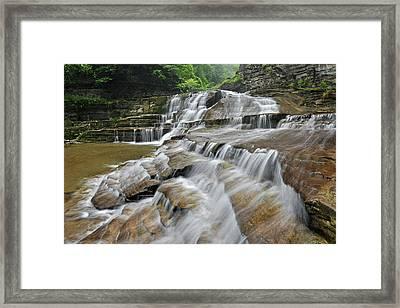 Robert Treman State Park Devils Punchbowl Falls Framed Print