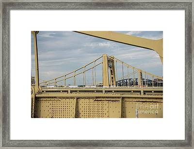 Roberto Clemente Bridge Framed Print