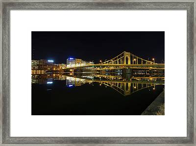 Roberto Clemente Bridge Framed Print by Jimmy Taaffe