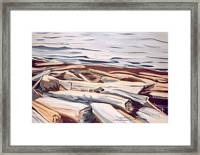 Roberts Creek, Sunshine Coast, B.c. Framed Print