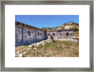 Framed Print featuring the photograph Robidoux Trading Post by Susan Rissi Tregoning