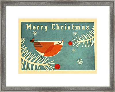 Robin 3 Framed Print by Daviz Industries