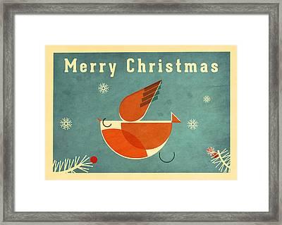 Robin 4 Framed Print by Daviz Industries