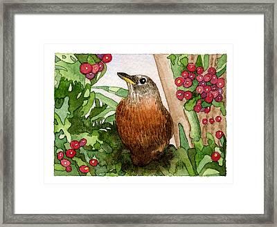 Robin Framed Print by Eunice Olson