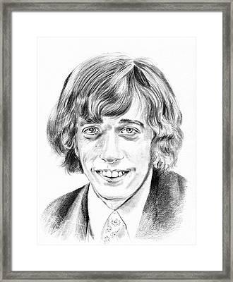 Robin Gibb Drawing Framed Print