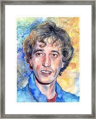 Robin Gibb Portrait Framed Print