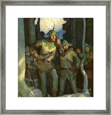 Robin Hood And His Merry Men Framed Print by Newell Convers Wyeth